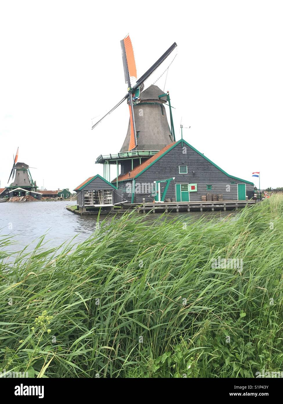 Windmill, Edam, Netherlands - Stock Image