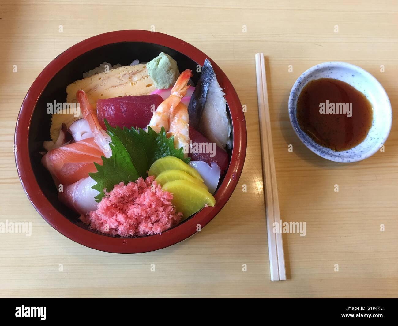 Sushi bowl - Stock Image
