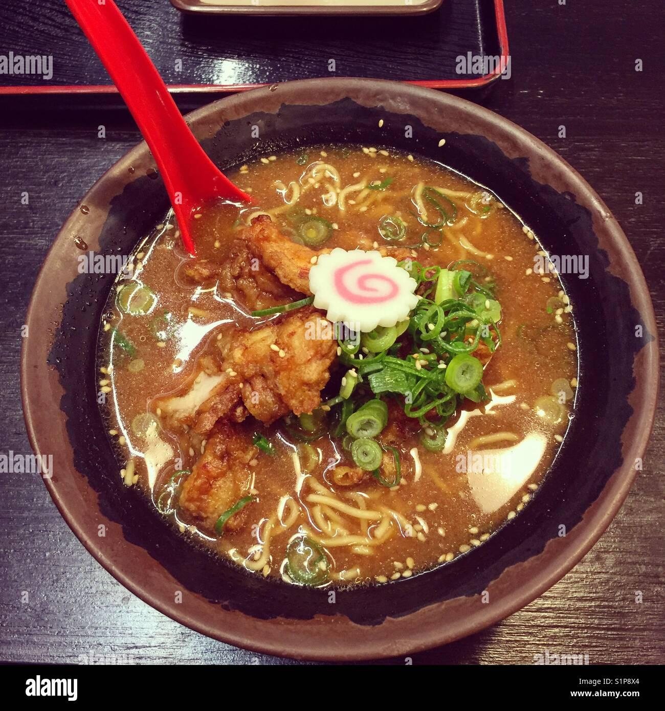 Ramen noodles - Stock Image