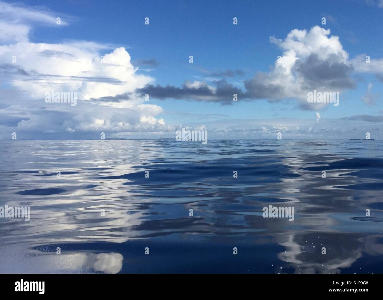 Meanwhile, somewhere in the middle of the North Atlantic... - Stock Image