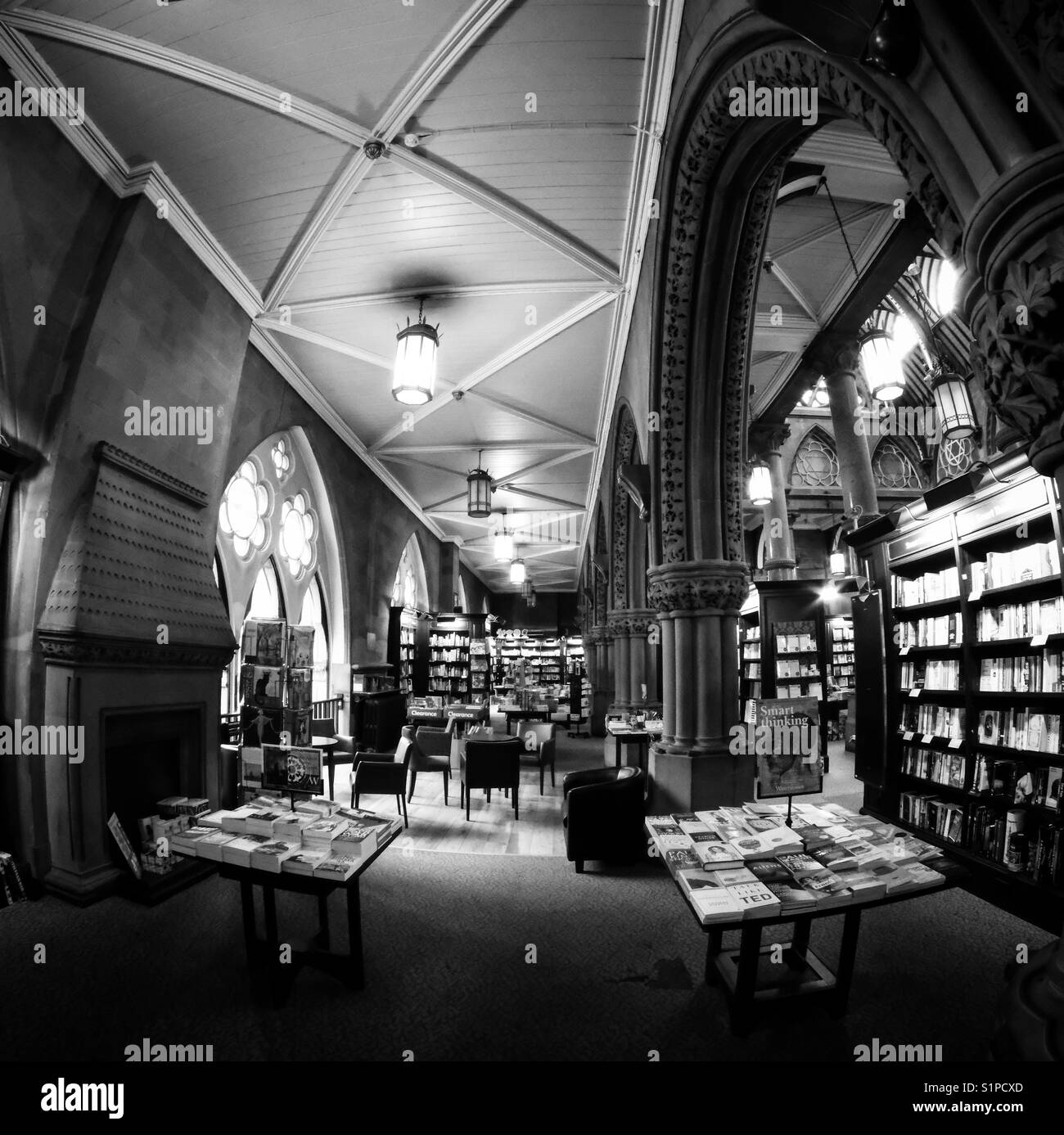 Inside the Wool Exchange bookstore in Bradford, West Yorkshire. - Stock Image