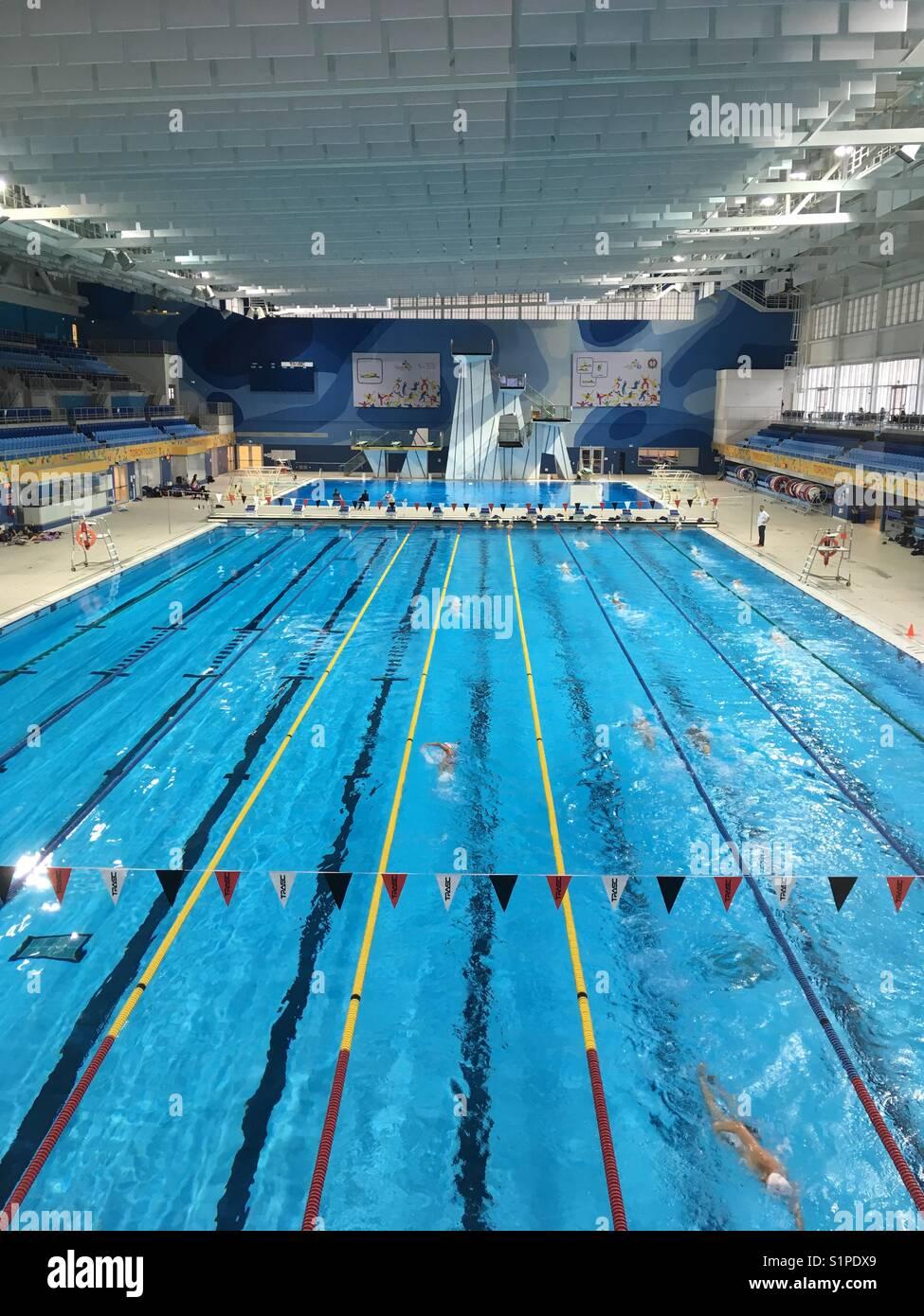swimming pool pan am sports center toronto canada stock photo