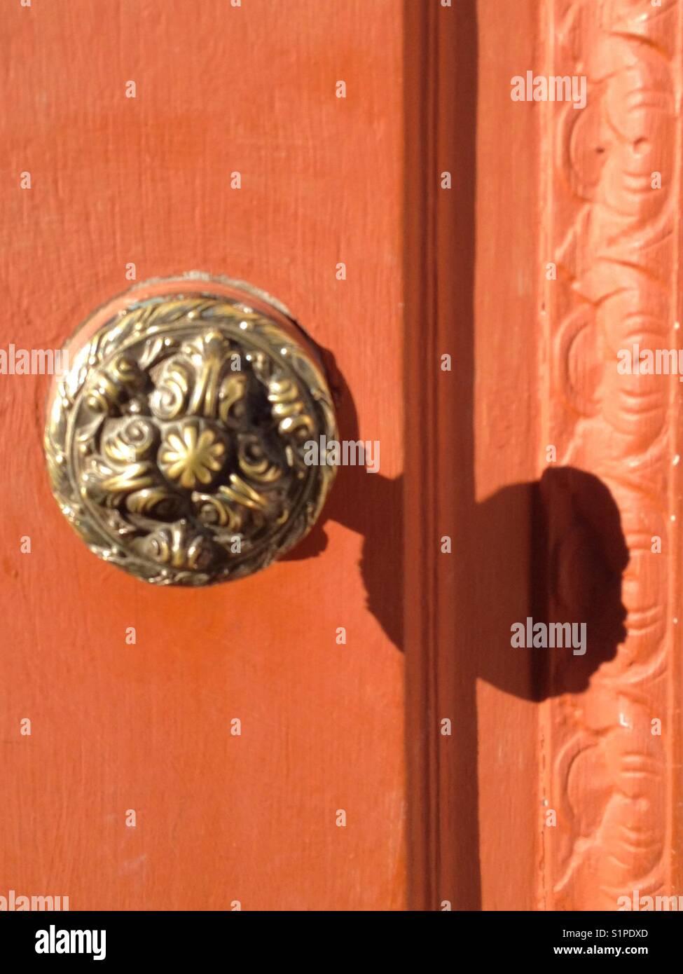 Antique door knob, Uruguay - Stock Image