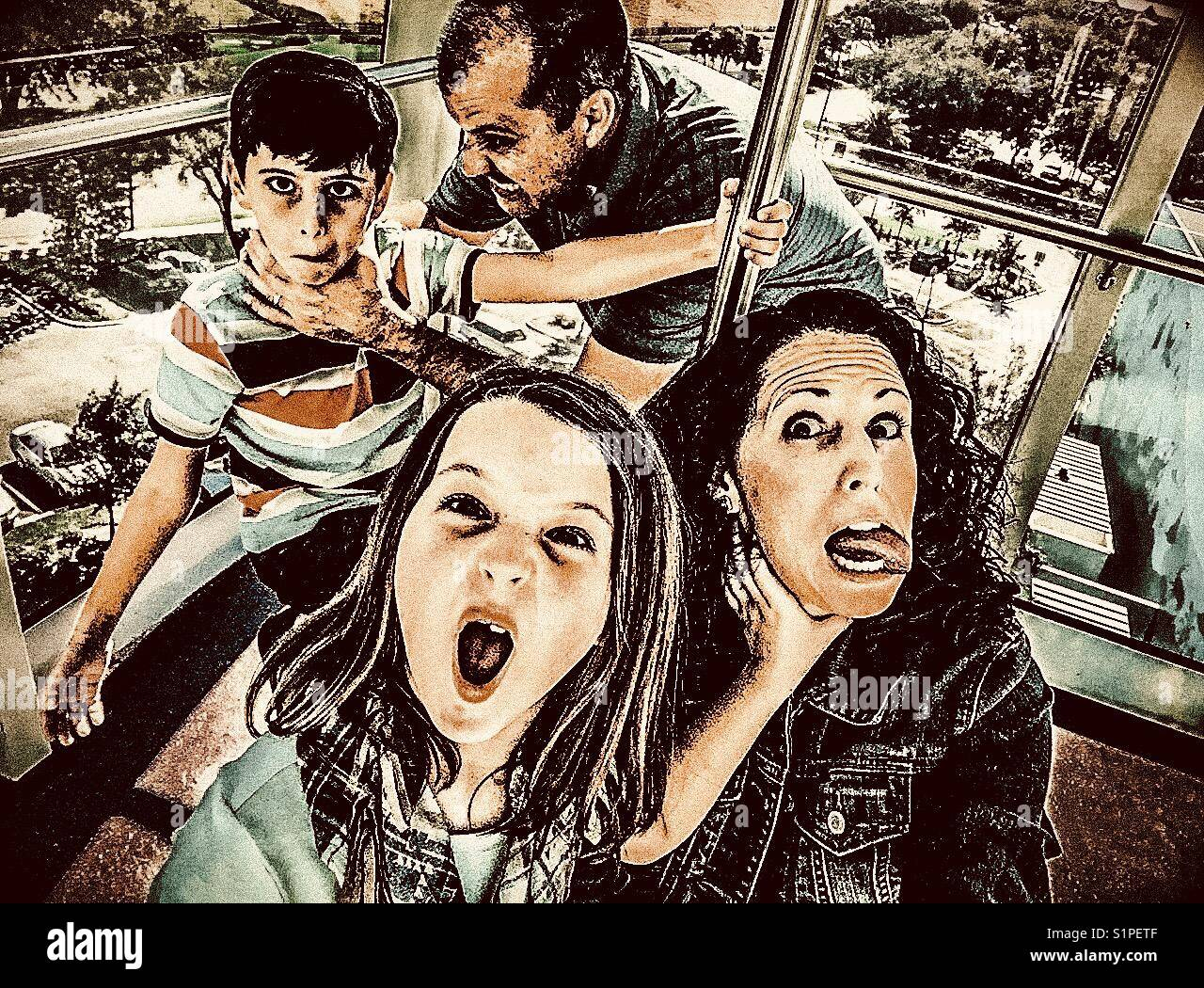 Family ties - Stock Image