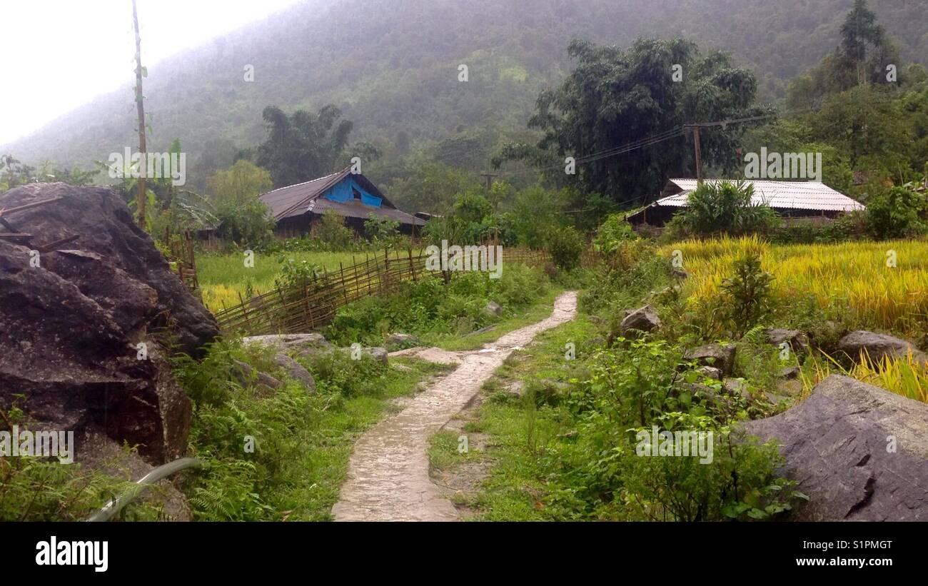 Road @ Sapa - Stock Image