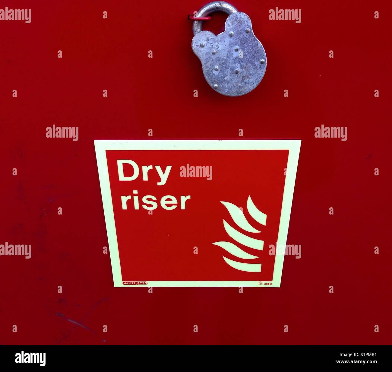 Dry riser locked on - Stock Image
