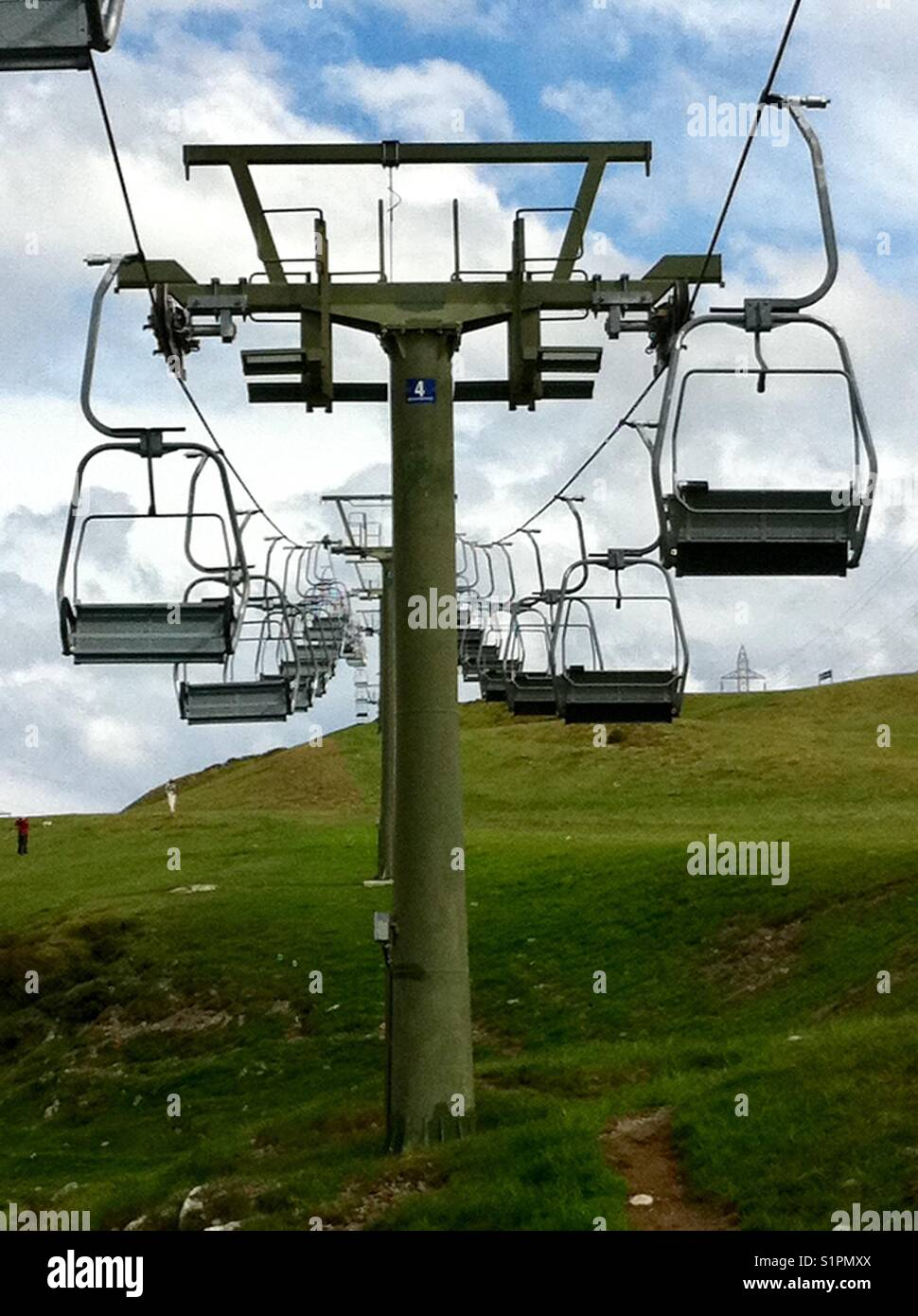 Chairlifts in Andorra Stock Photo