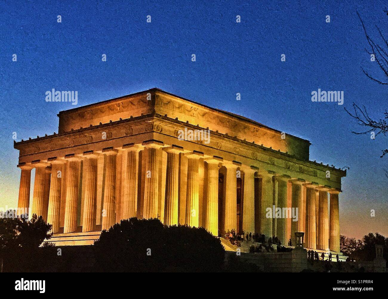 Lincoln Memorial in the evening. - Stock Image