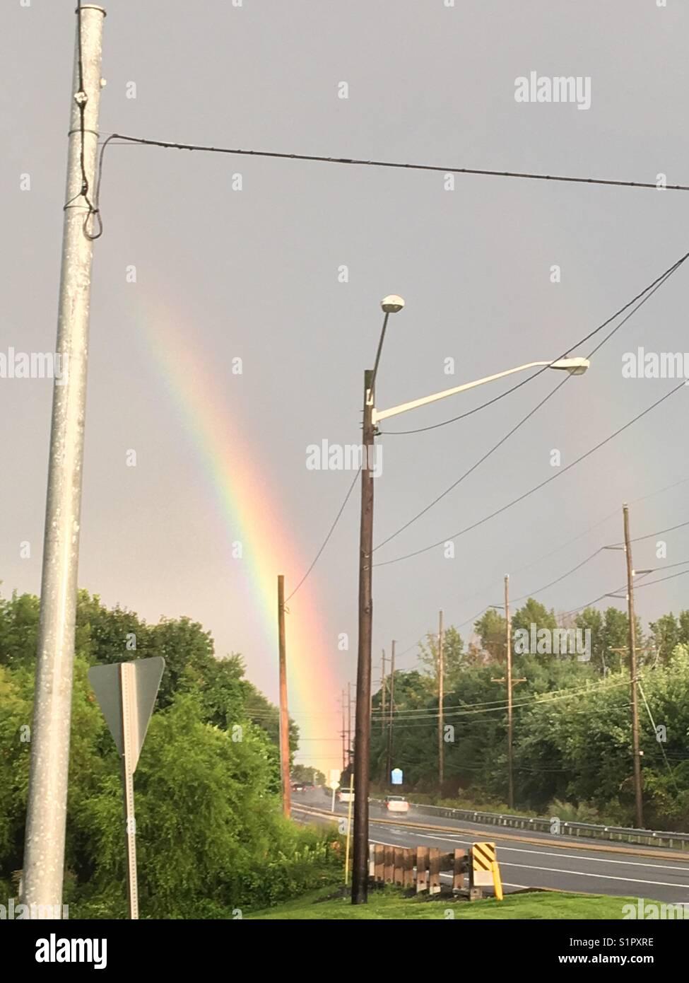 Rainbow Wilmington Delaware - Stock Image