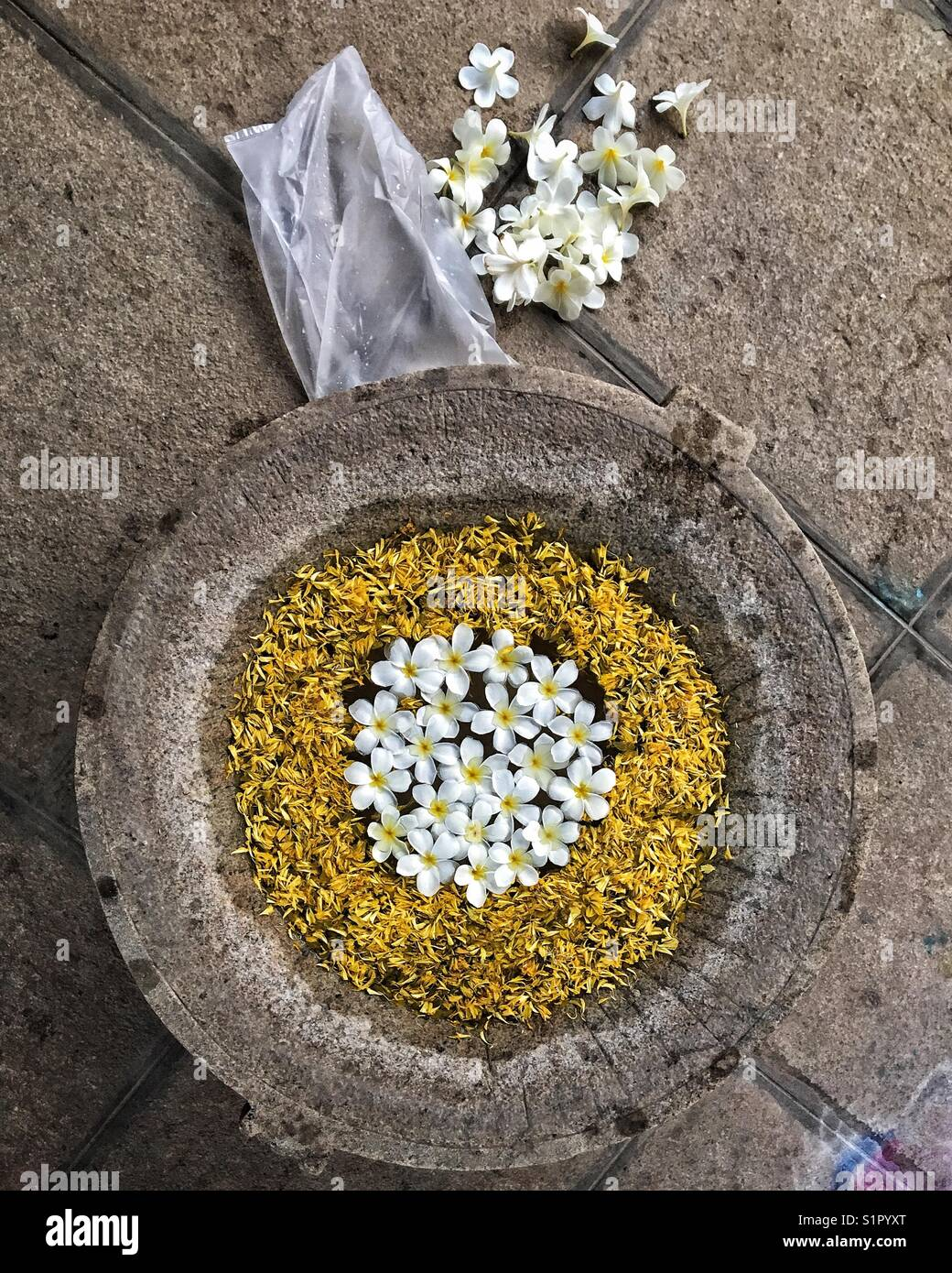 Flowers for an auspicious and fresh start! - Stock Image