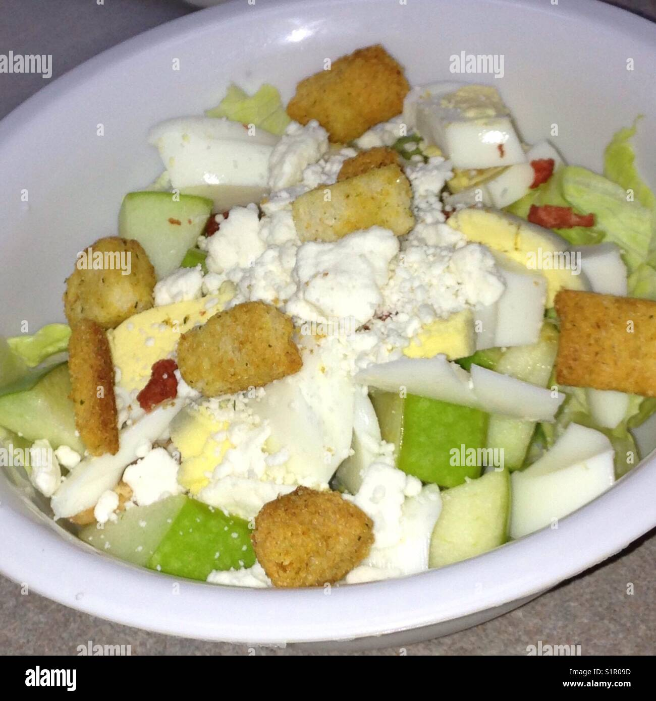 Single serving salad - Stock Image