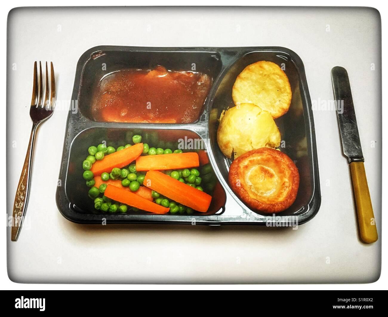 TV dinner - Stock Image