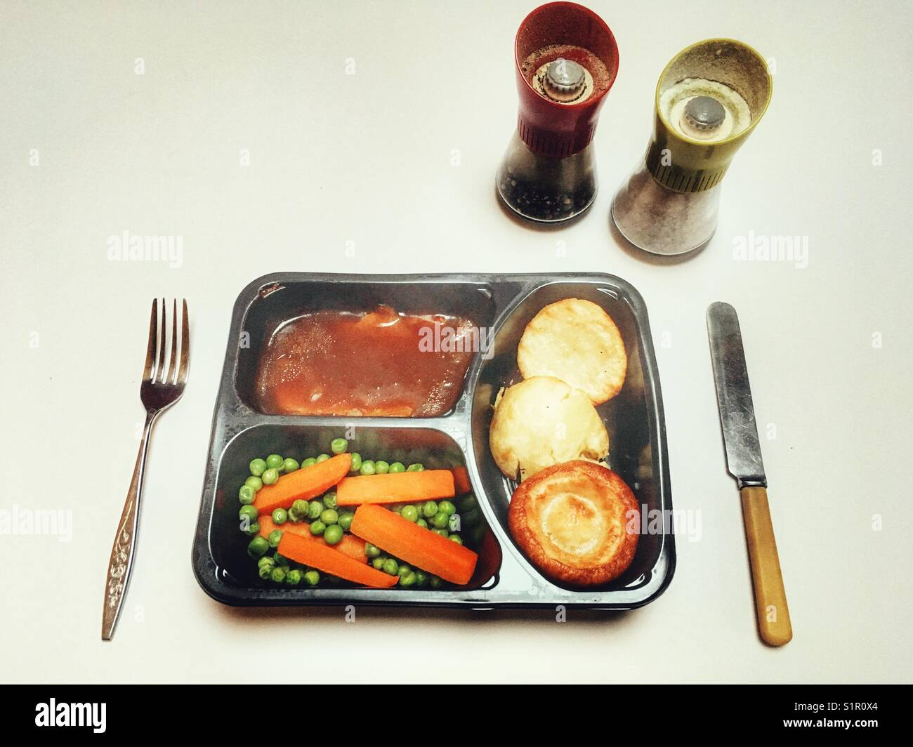 Waitrose Classic beef roast dinner - Stock Image