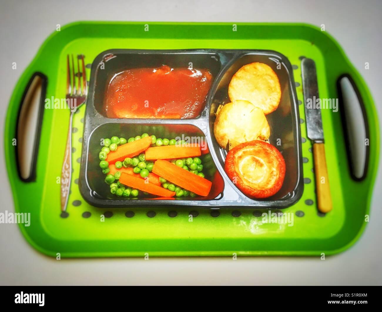 Individual TV dinner - Stock Image