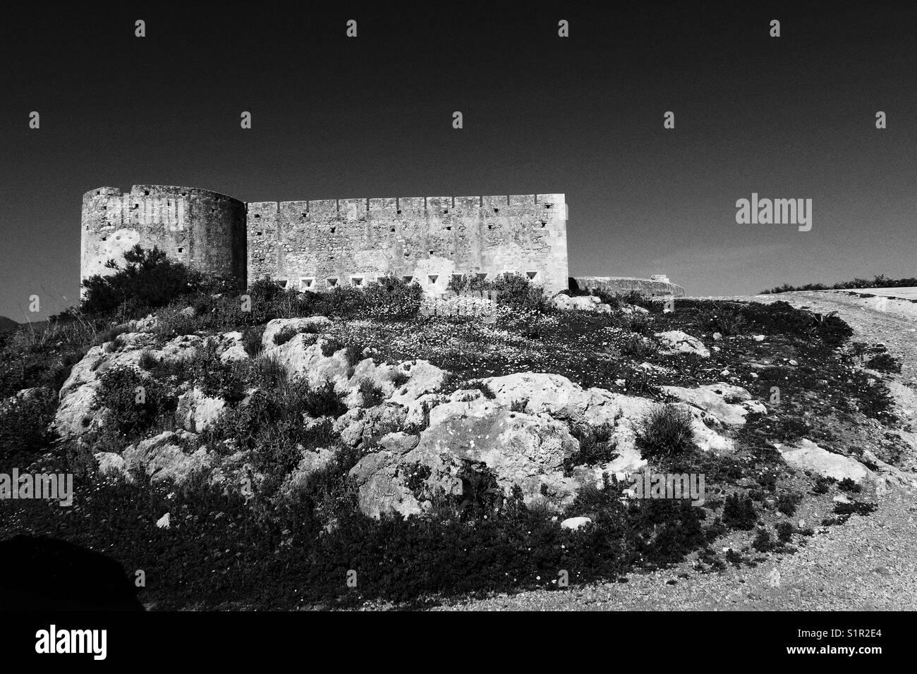 Old Venetian fort, Crete - Stock Image