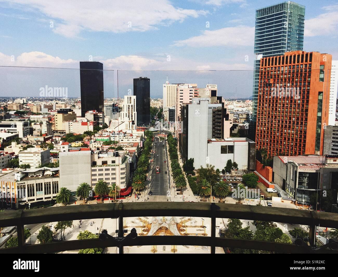 Mexico City skyline - Stock Image