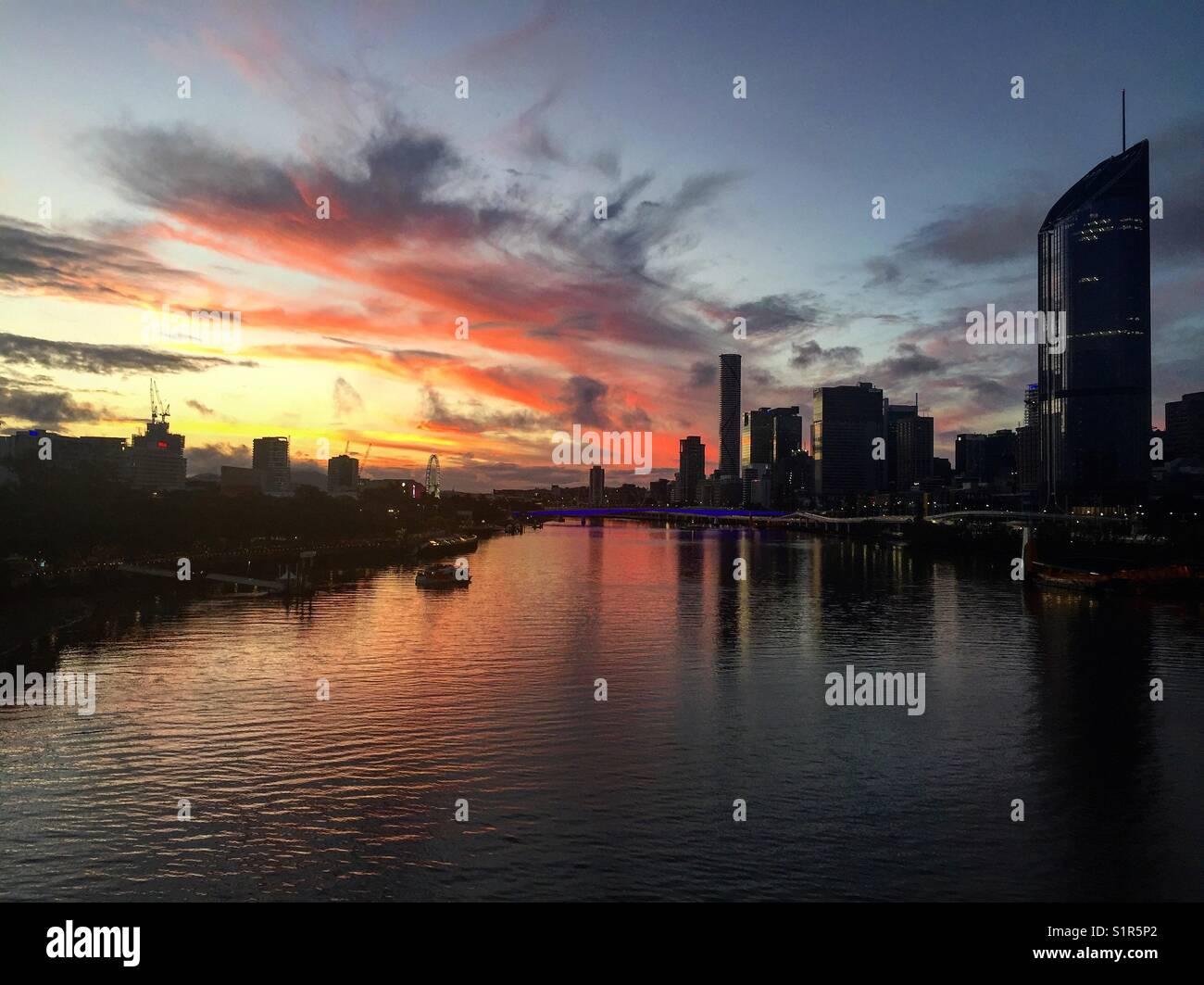 Brisbane City Skyline - Stock Image