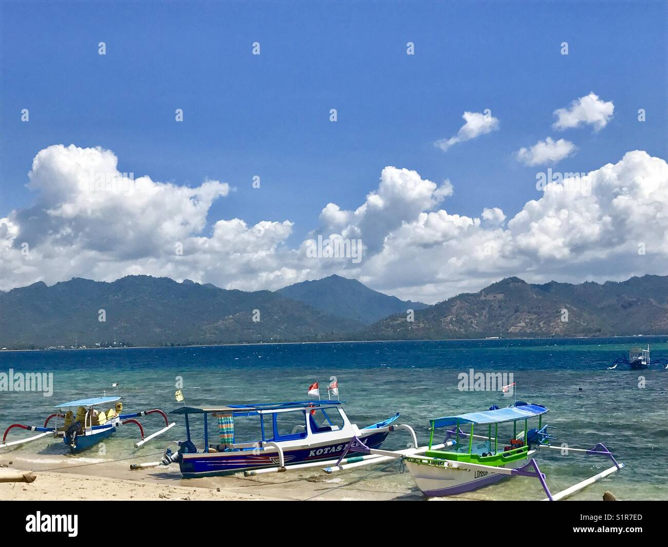Gili Air Beach, Indonesia - Stock Image