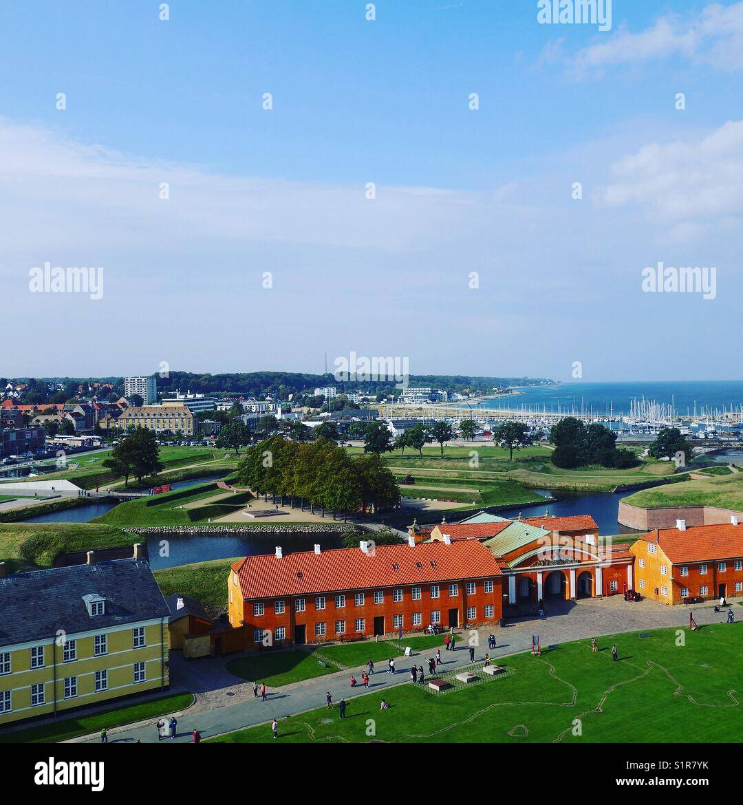 View from Kronborg Castle - Stock Image