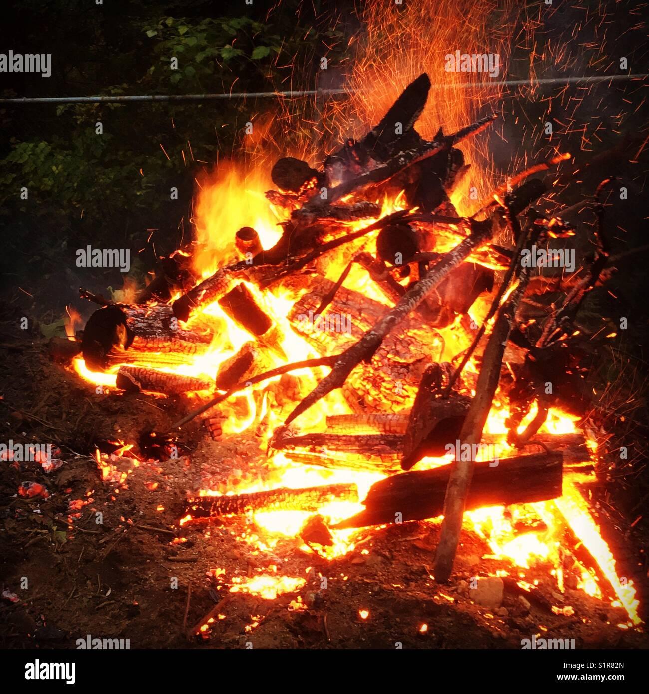 Fireside - Stock Image