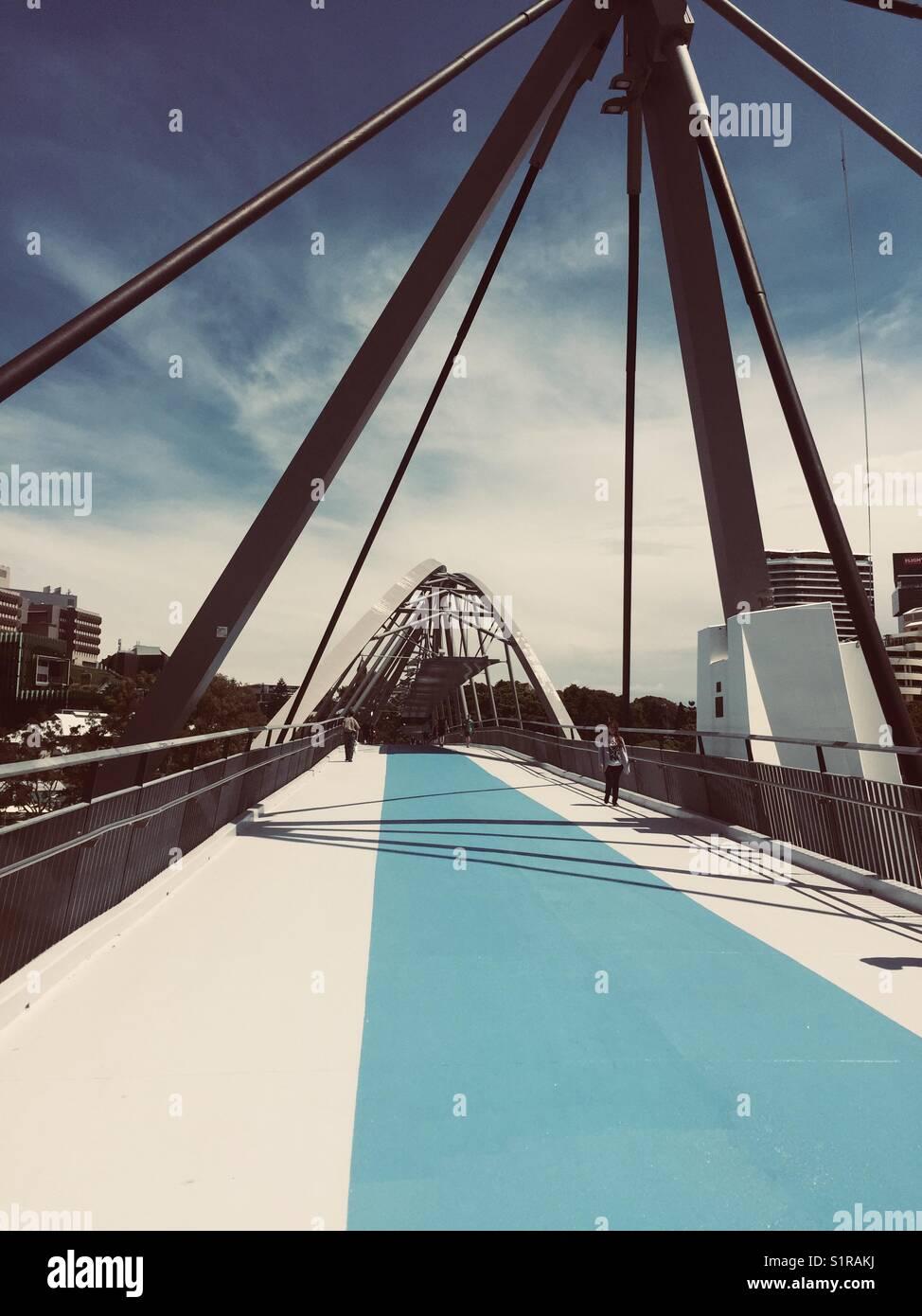 Goodwill bridge Brisbane - Stock Image