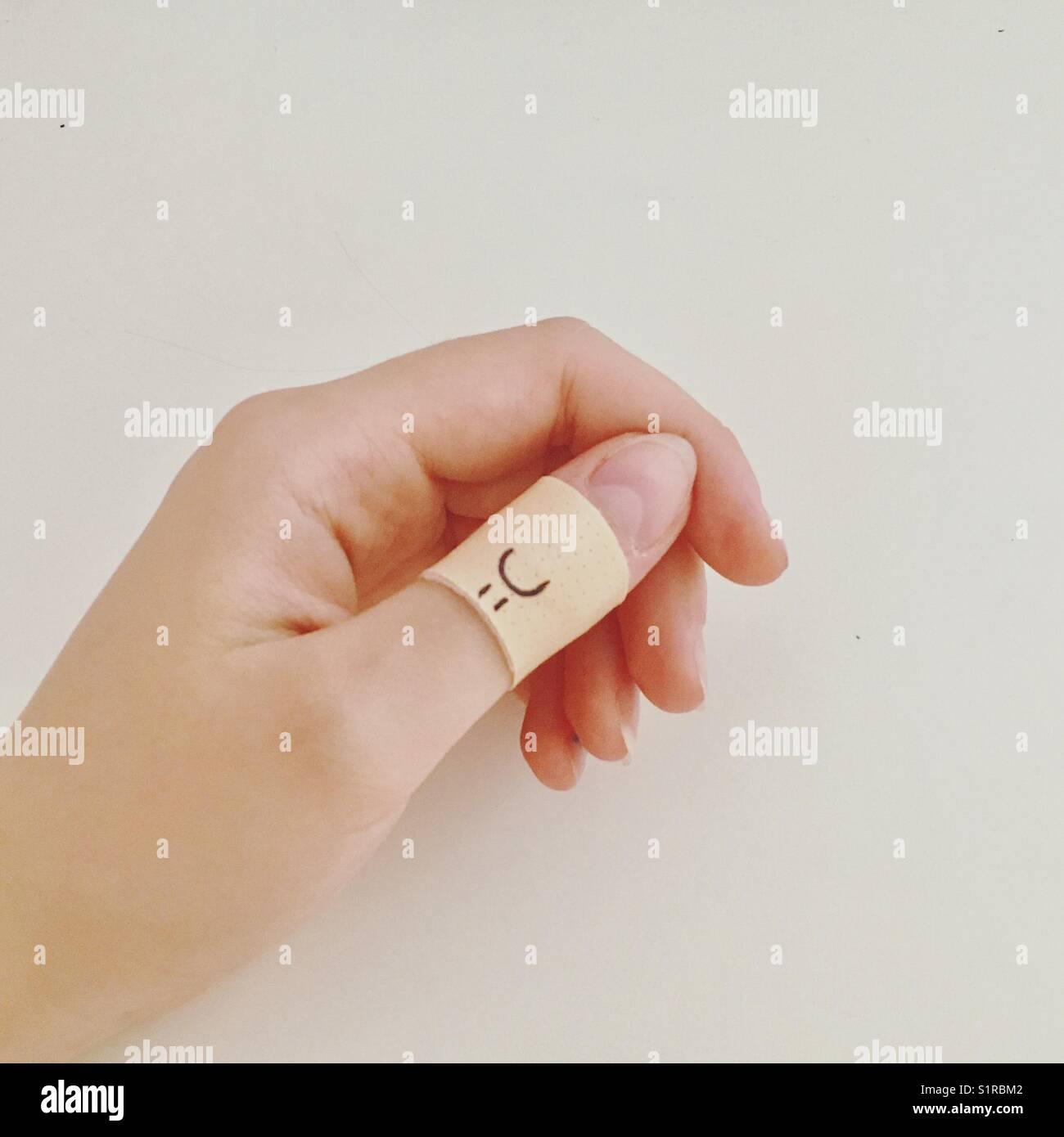 Hand hurt. - Stock Image