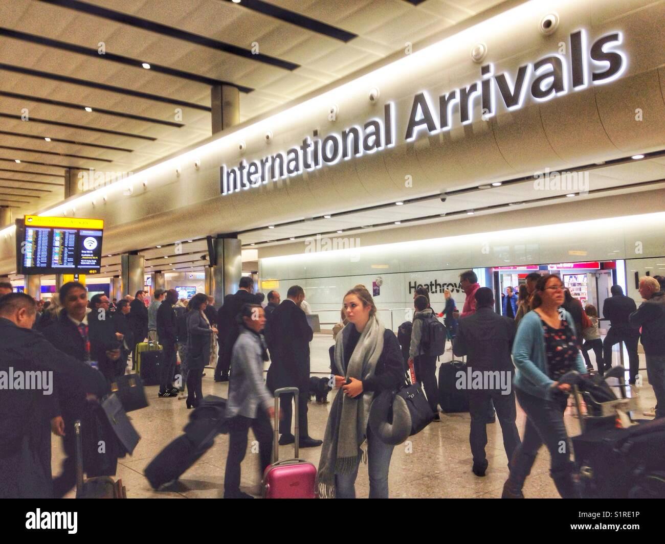 International Arrivals at Heathrow Airport, terminal 2 Stock Photo - Alamy