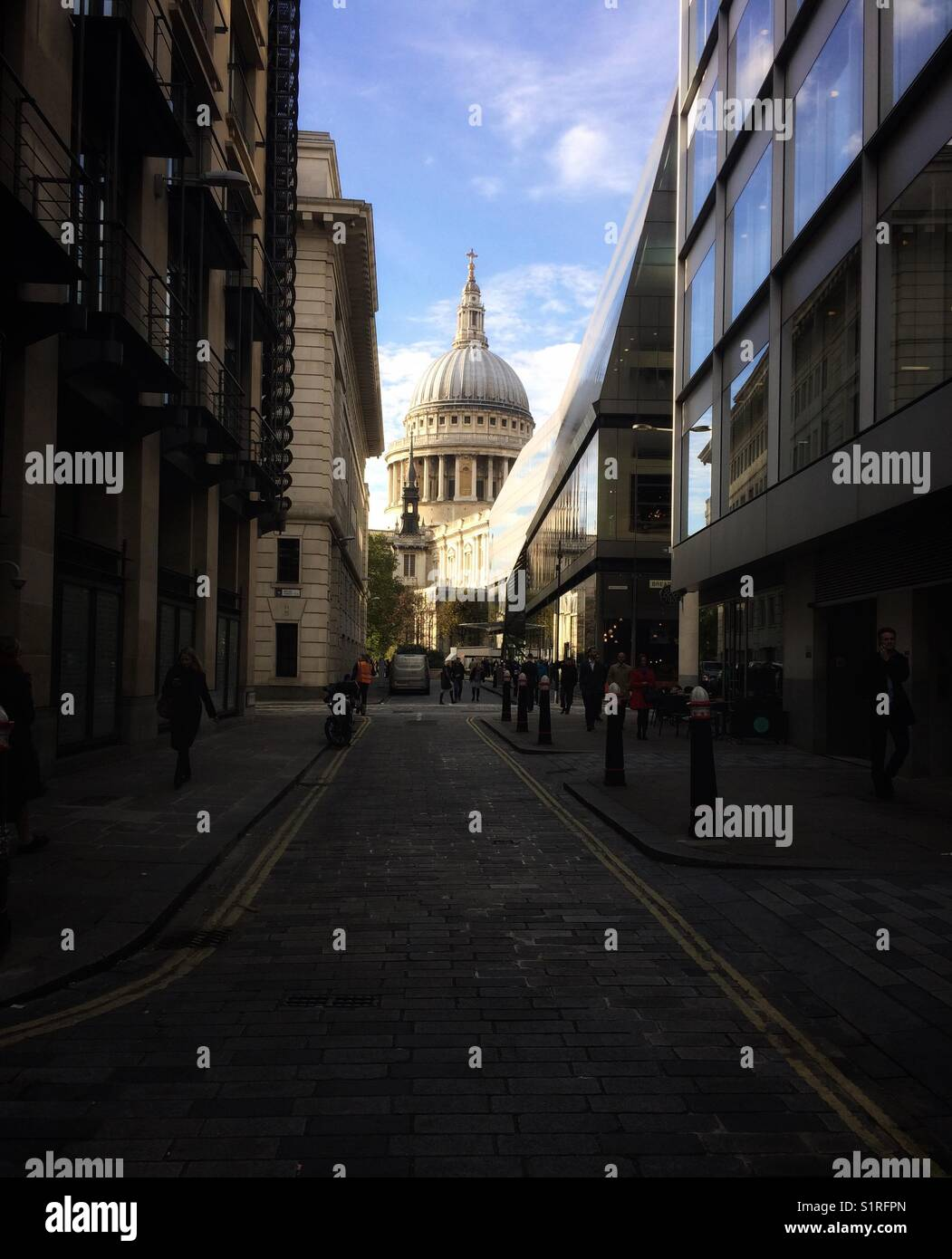 St Paul's Cathedral, One New Change, Cannon Street, London, United Kingdom - Stock Image