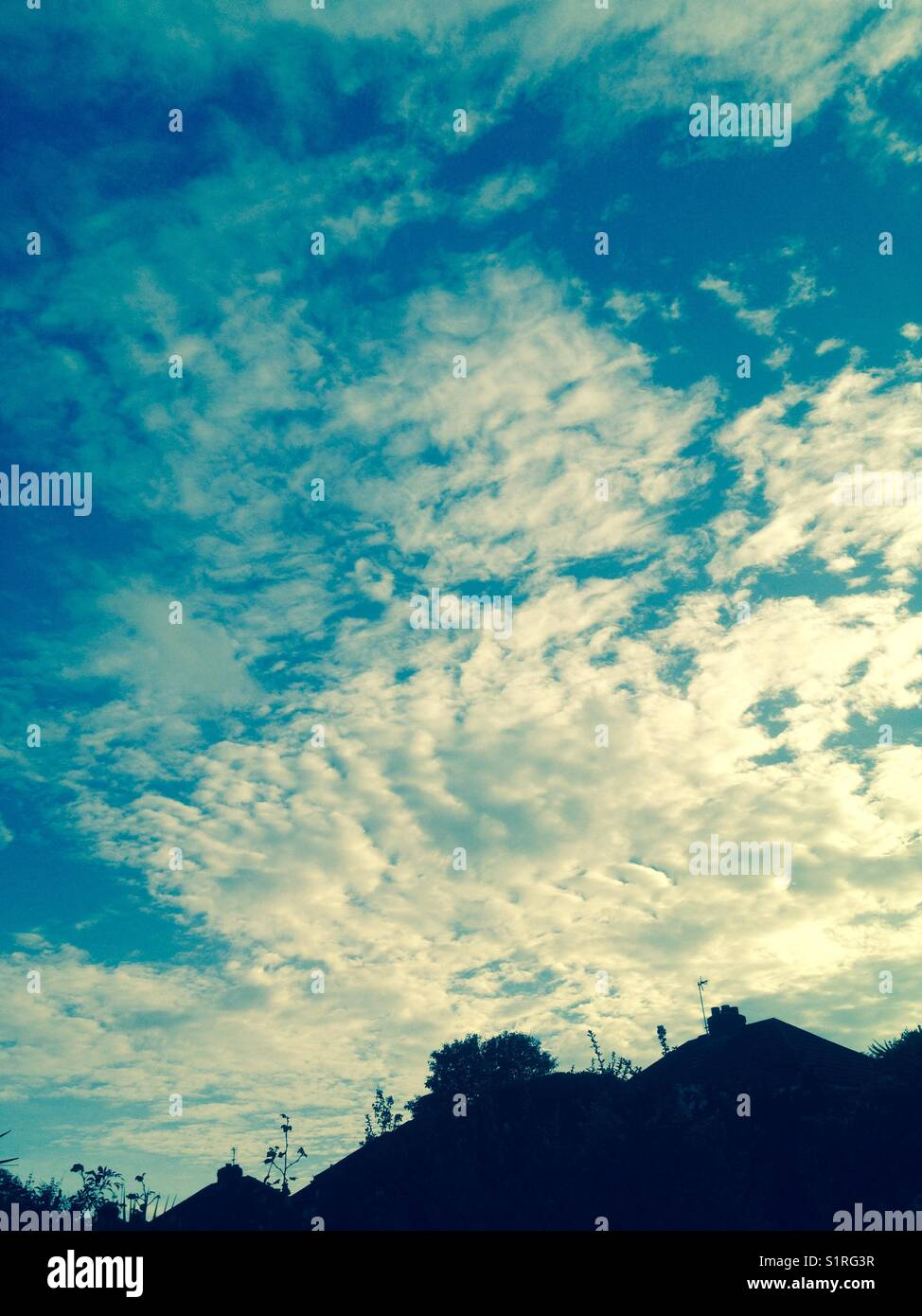 Sky, edited, filter - Stock Image