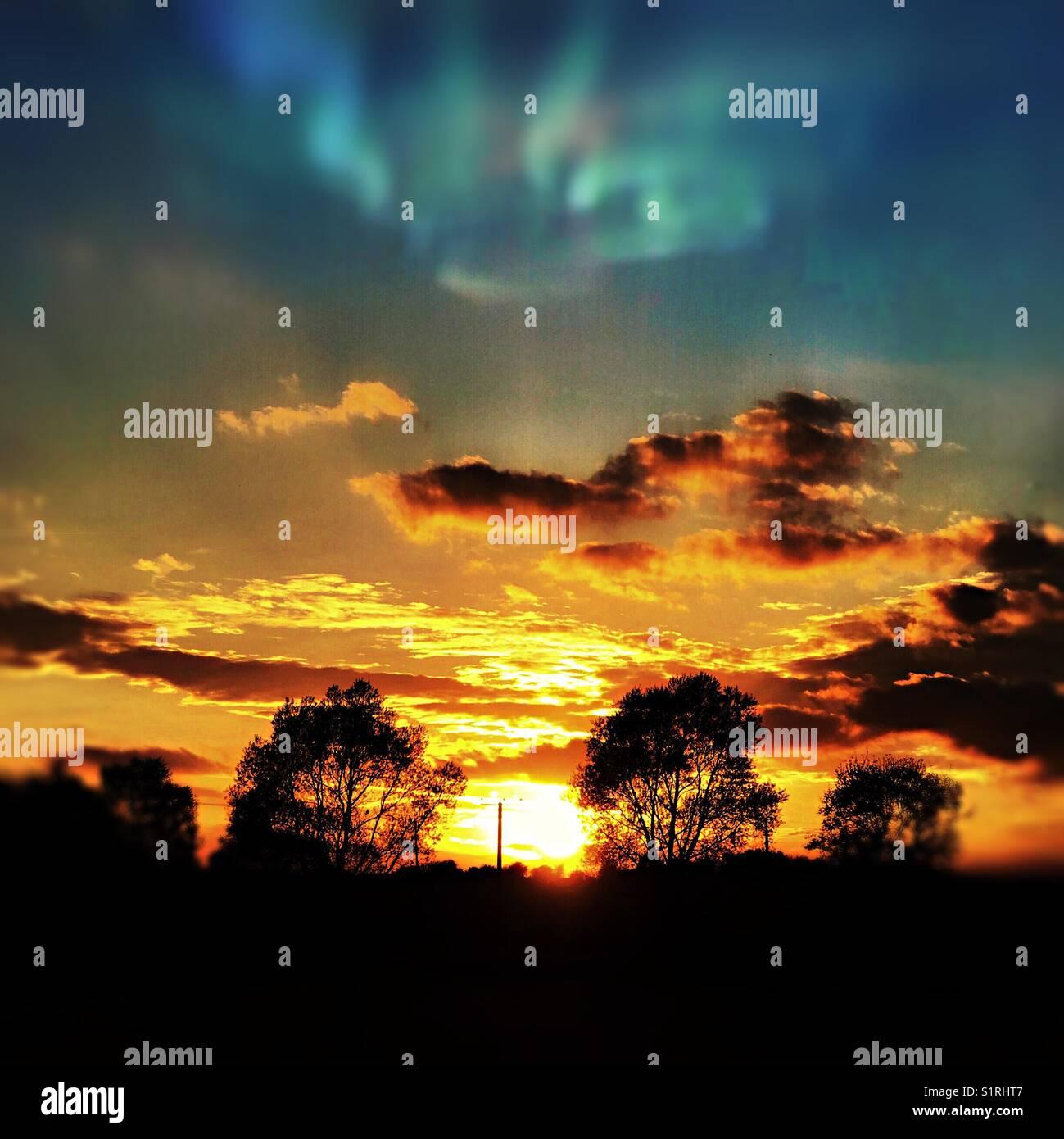 Sunset landscape Stock Photo