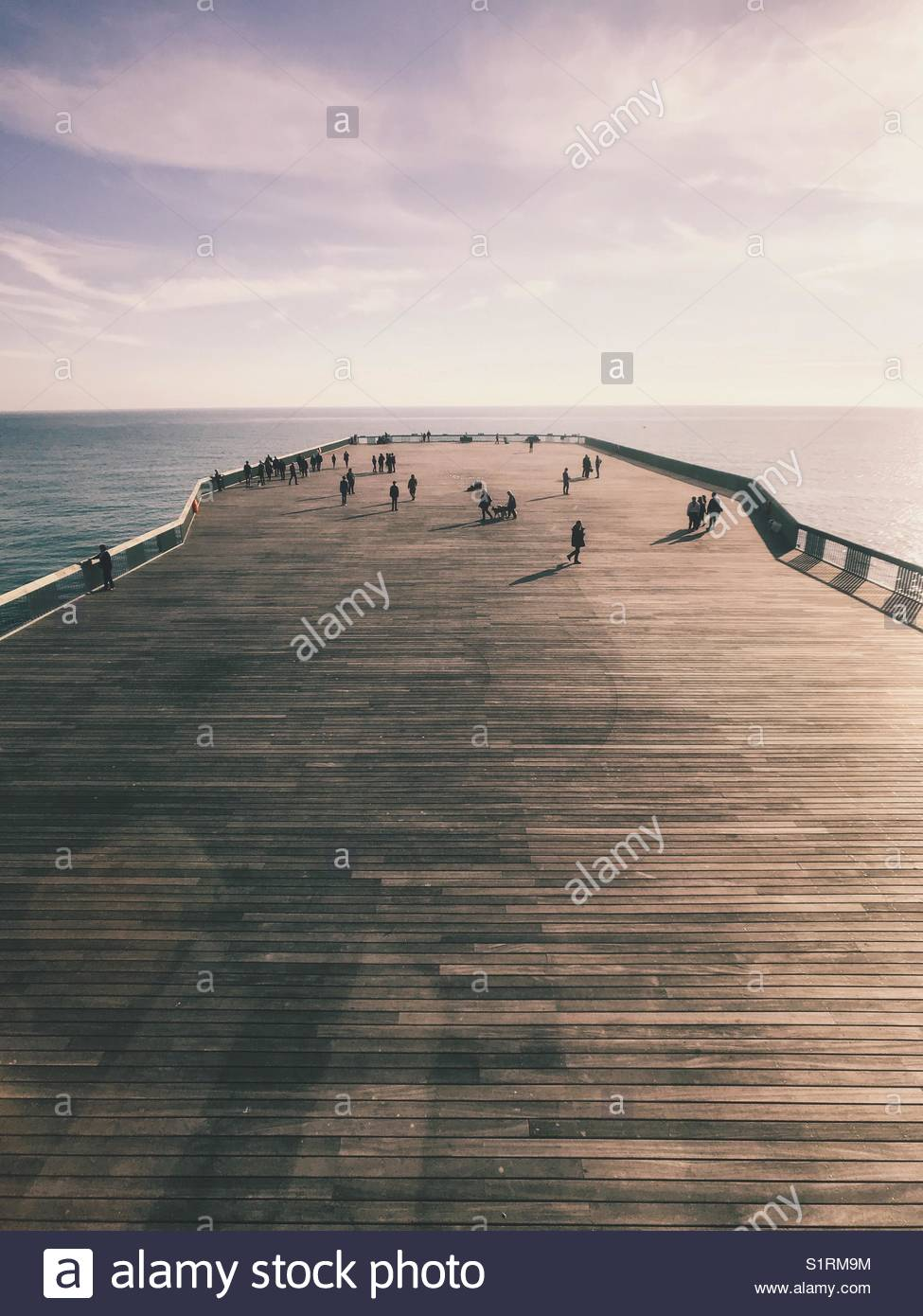 Hastings Pier, Sussex, Kent, UK. Awarded the Stirling  Prize 2017 - Stock Image