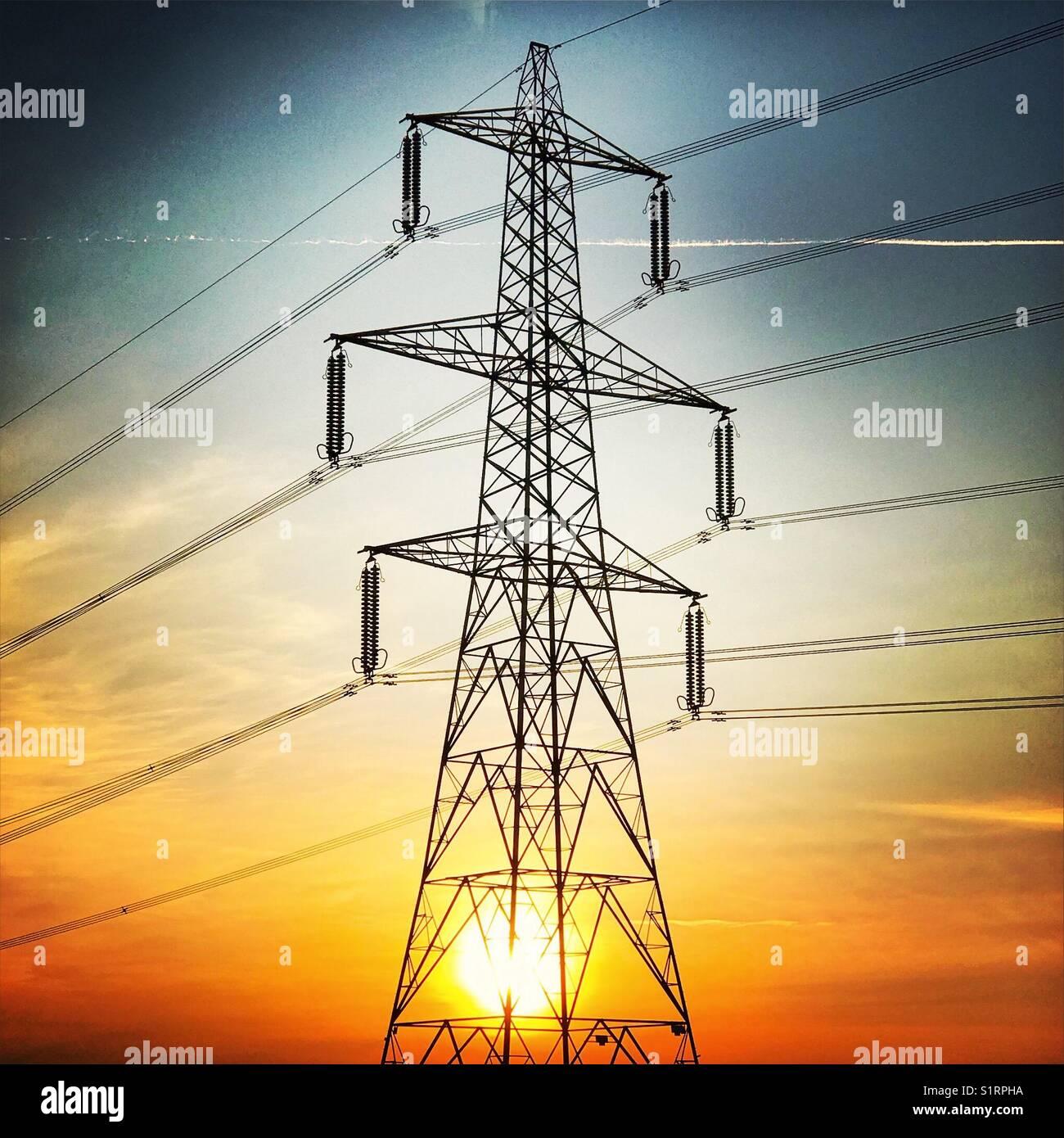 Electricity pylonStock Photo