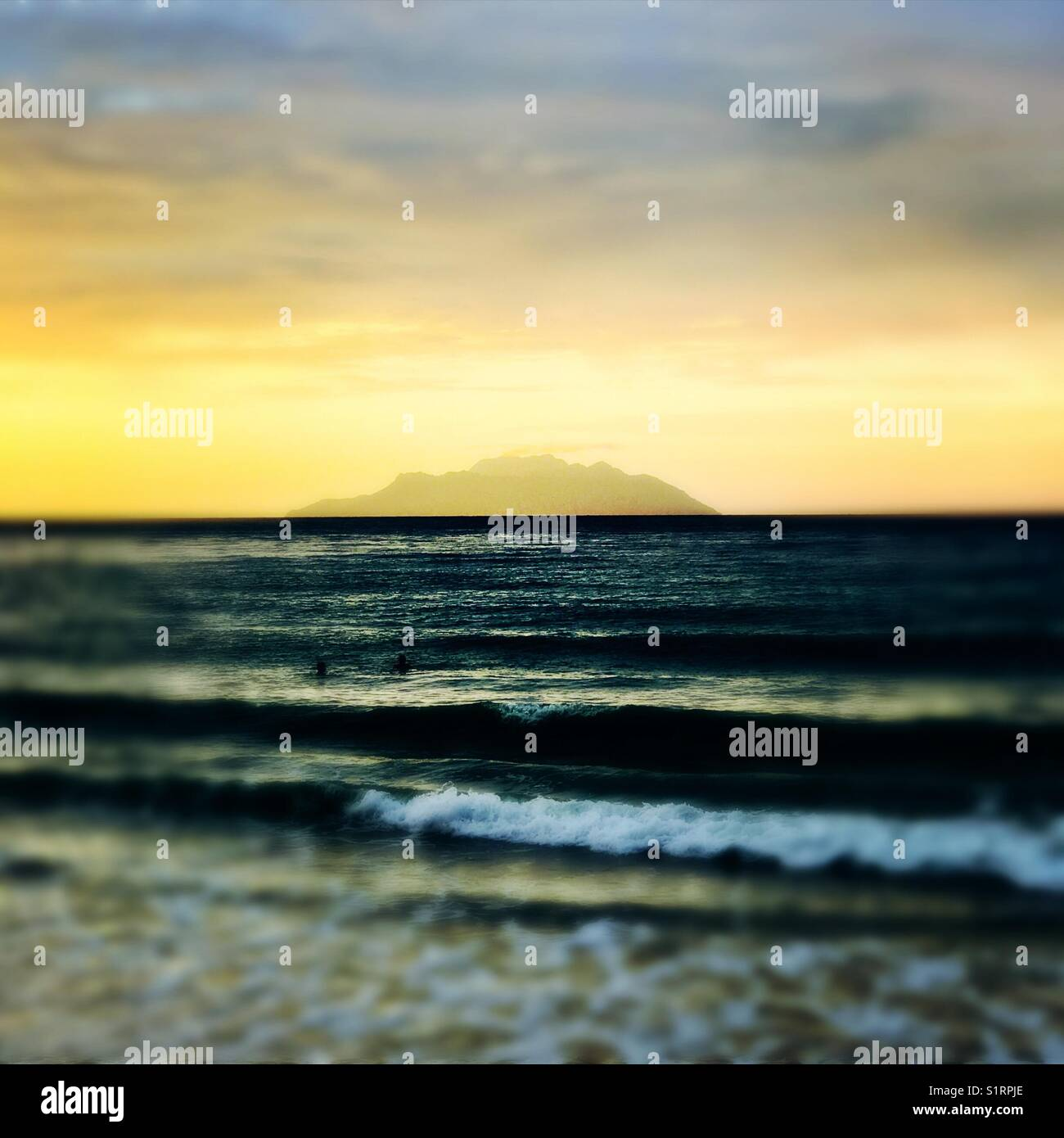 Seychelles beau Valon seascape Stock Photo