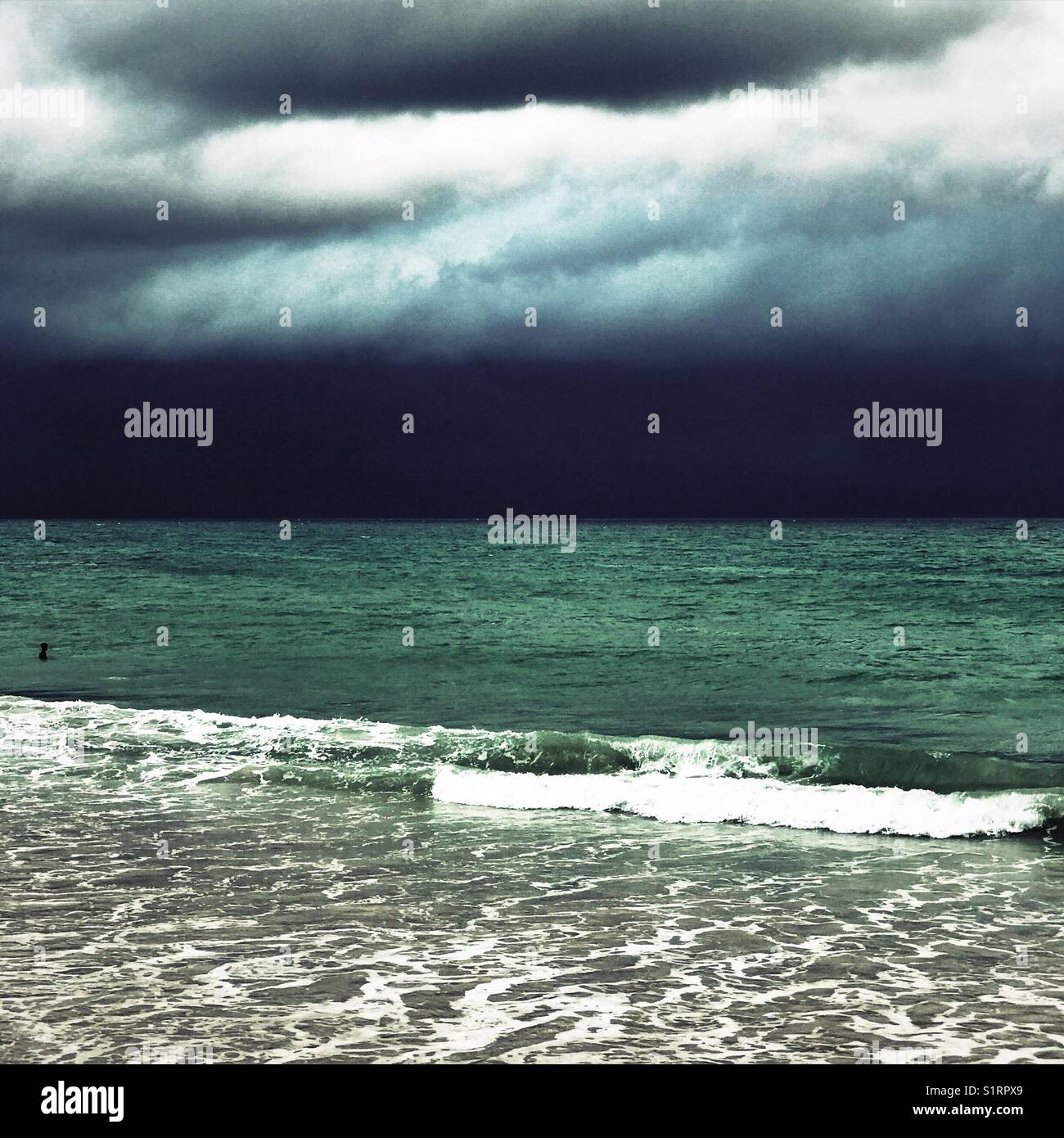 Moody seascape Stock Photo