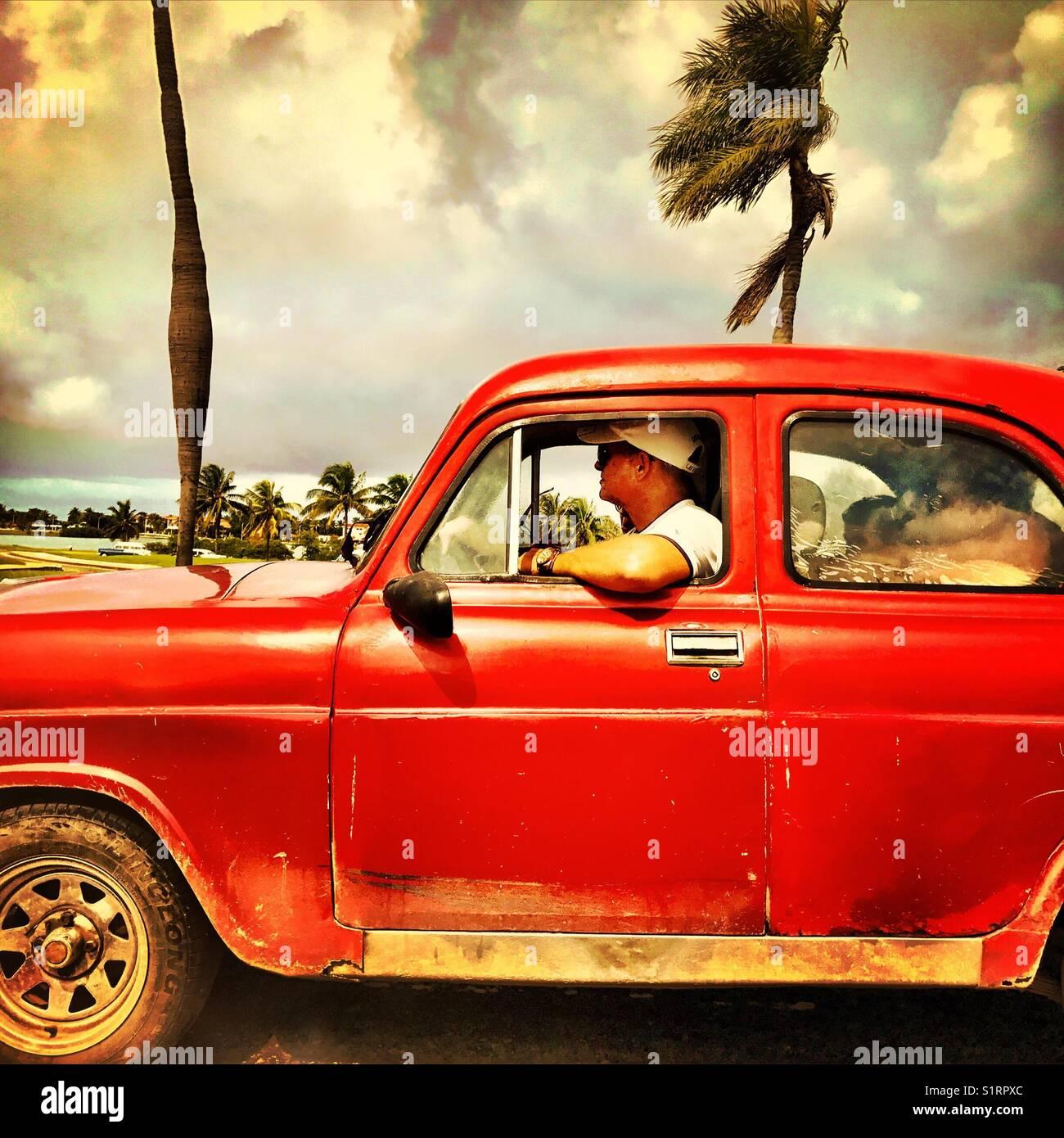 Havana Cuban retro car Stock Photo