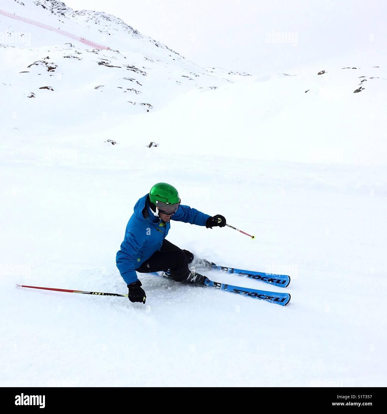 Alpine Skiing Snow Ski Winter Wintersports Snowsports - Stock Image