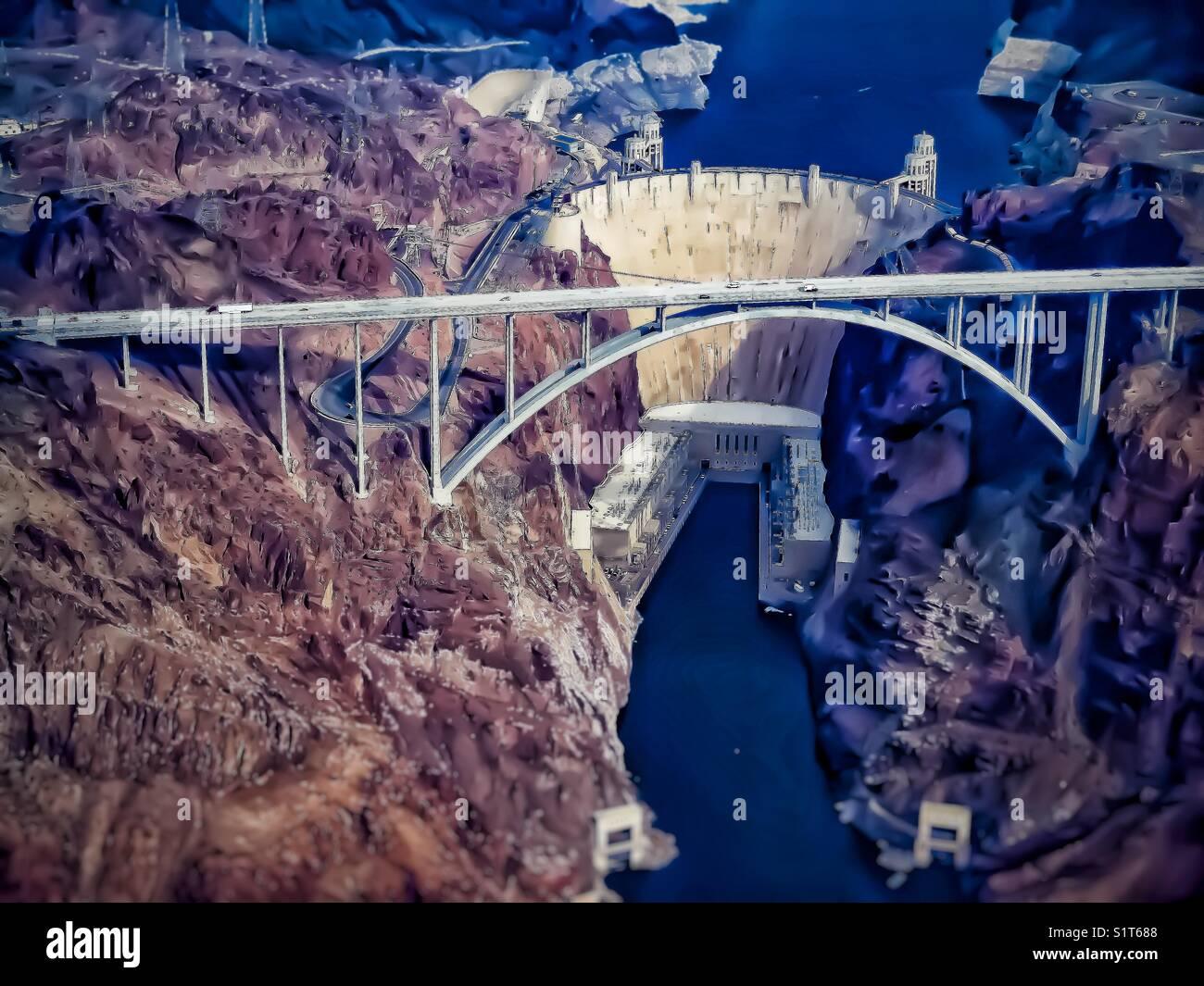 Hoover Damn, Nevada - Stock Image