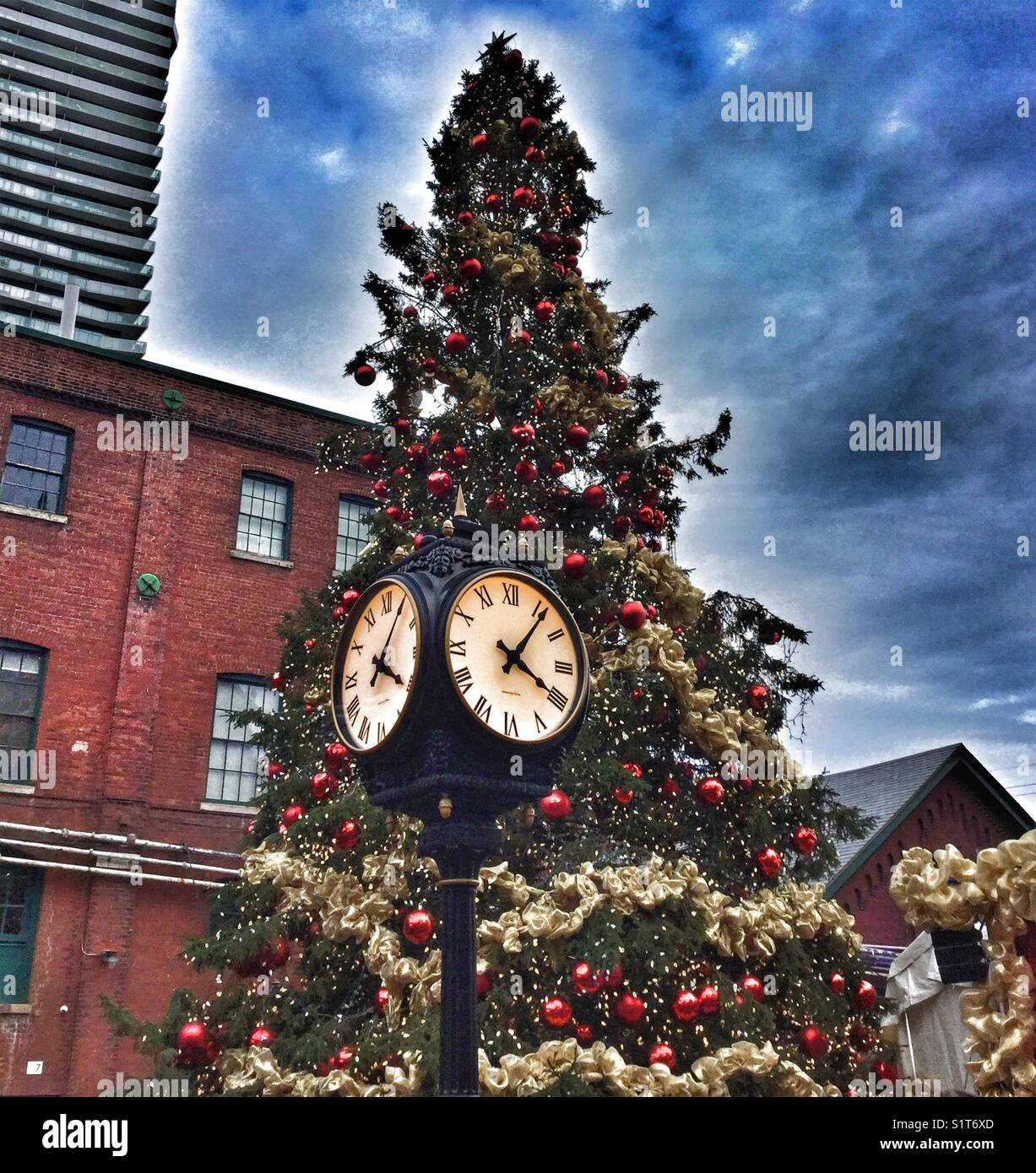 Toronto's Christmas Market at The Distillery District. Stock Photo
