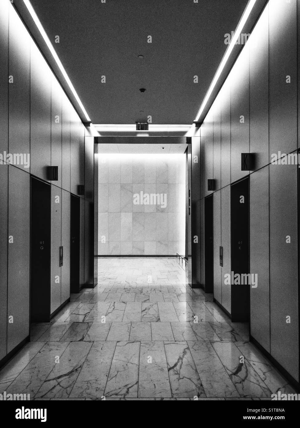 Elevatoru0027s Lobby At A Fancy Office Building In Midtown Manhattan