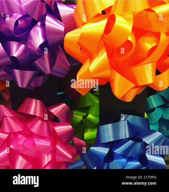 Gift bows by K.R. - Stock Image