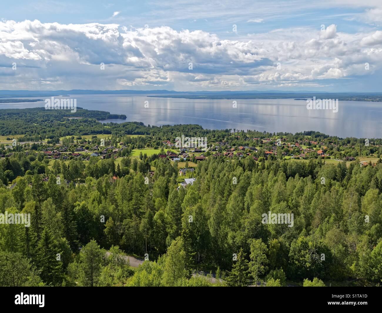 View of siljan in Dalarna, Sweden Stock Photo