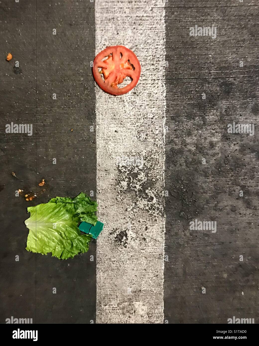 Vegetables on the ground - Stock Image