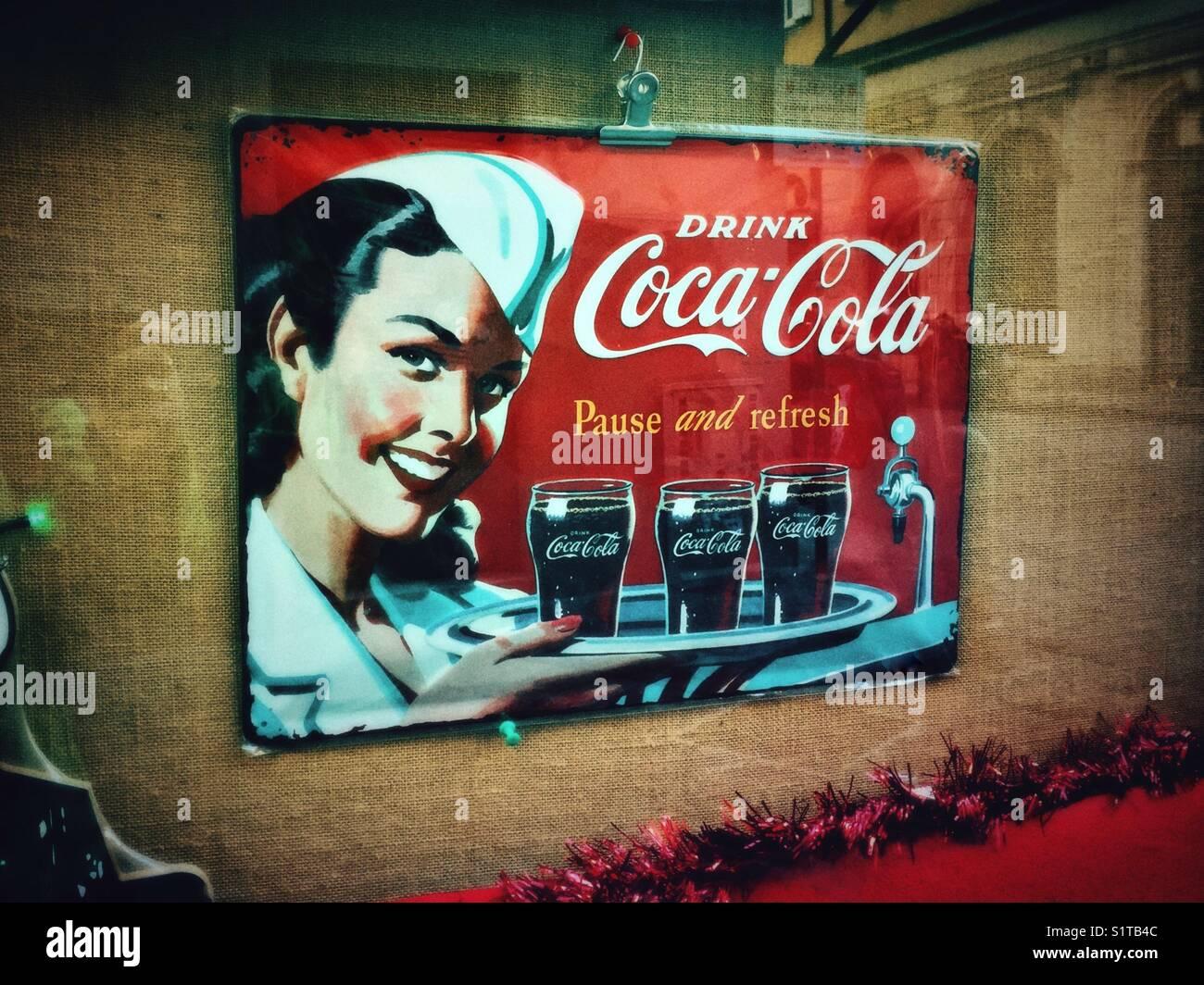 Retro Advertisement Stock Photos & Retro Advertisement Stock