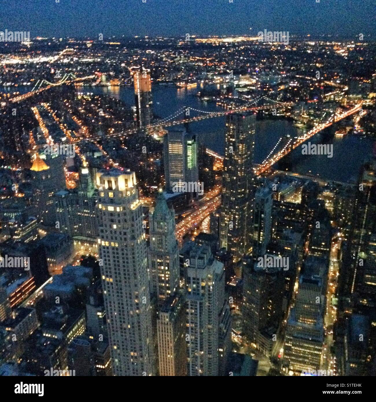 Evening View From One World Observatory One World Trade Center Stock Photo Alamy
