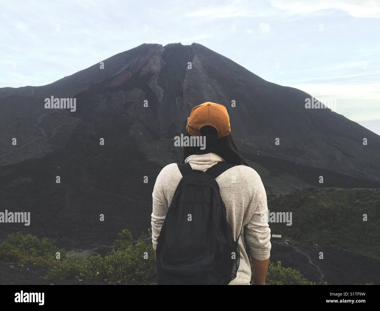 Volcano view point - Stock Image