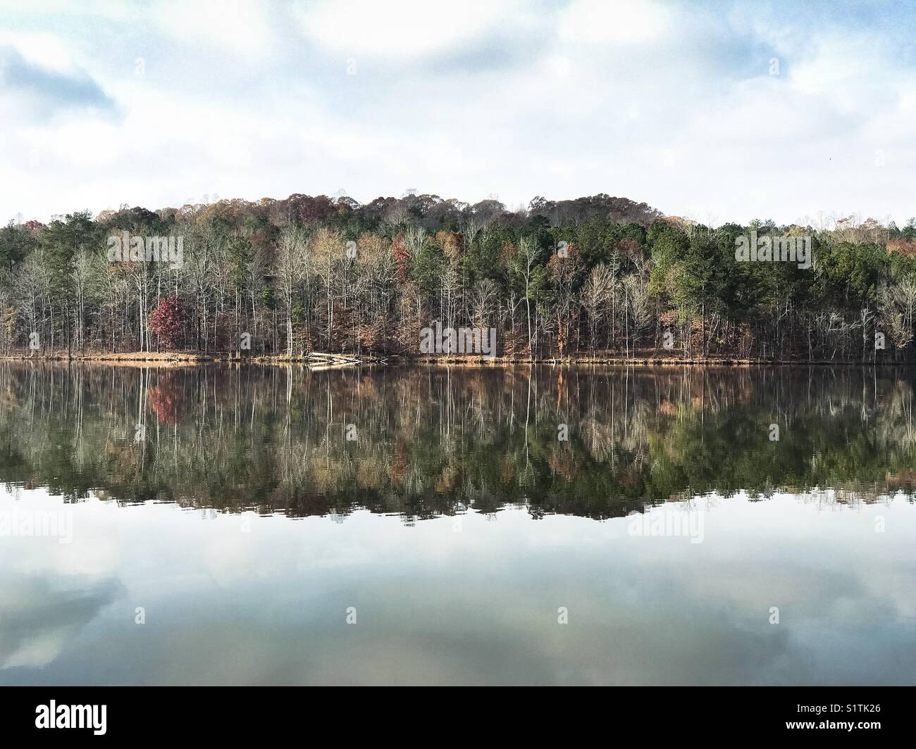 Lake McIntosh in Peachtree City. - Stock Image