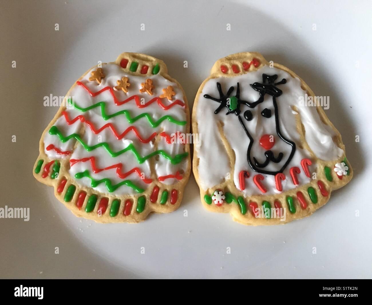 Ugly Christmas Sweater Cookies Stock Photo 310943101 Alamy