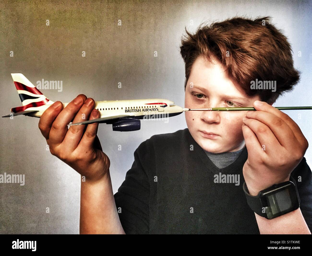 Revell Airbus A319 model aircraft - Stock Image