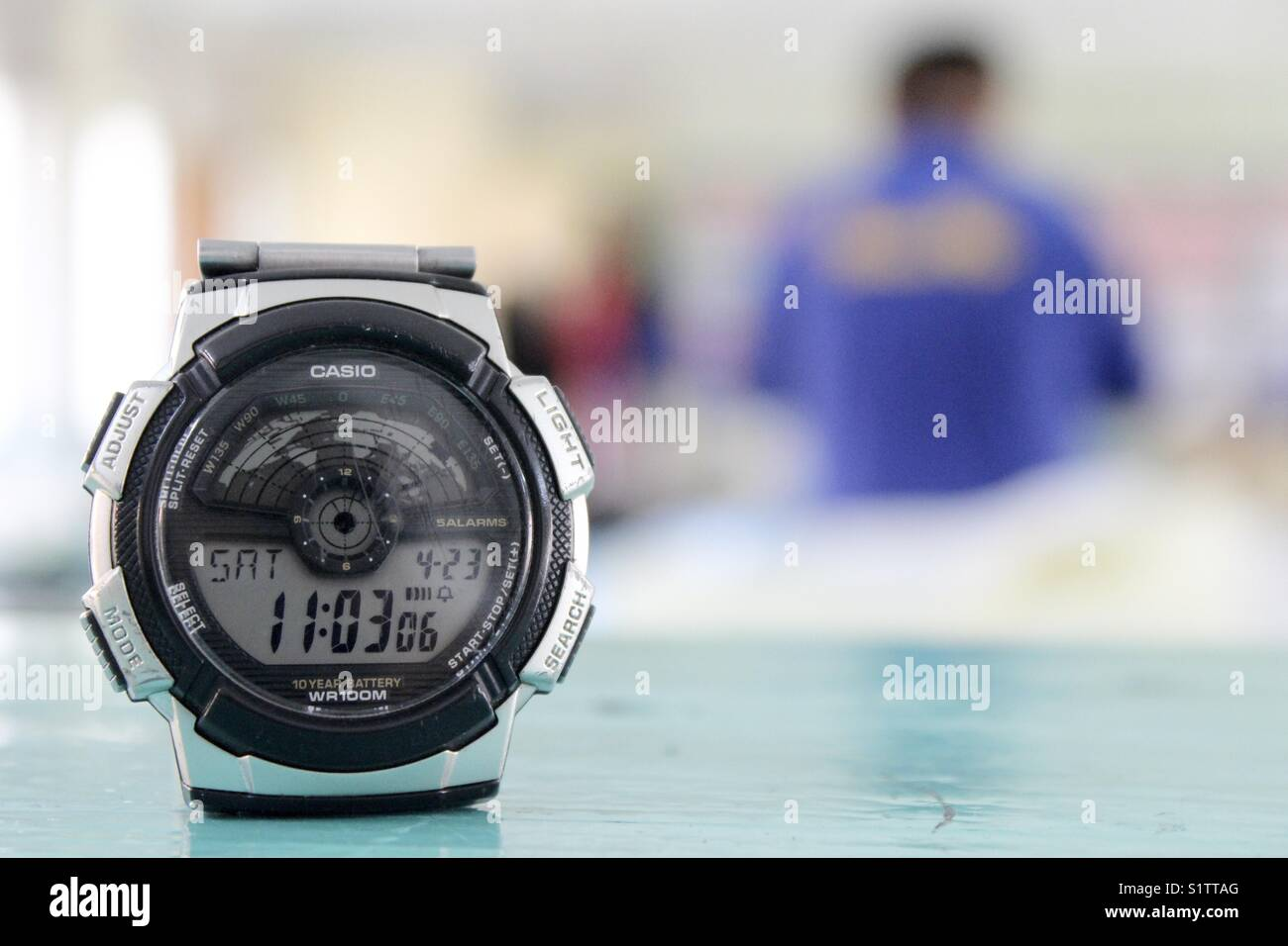 Casio Traveller Watch On The Desk Of Science Lab - Stock Image