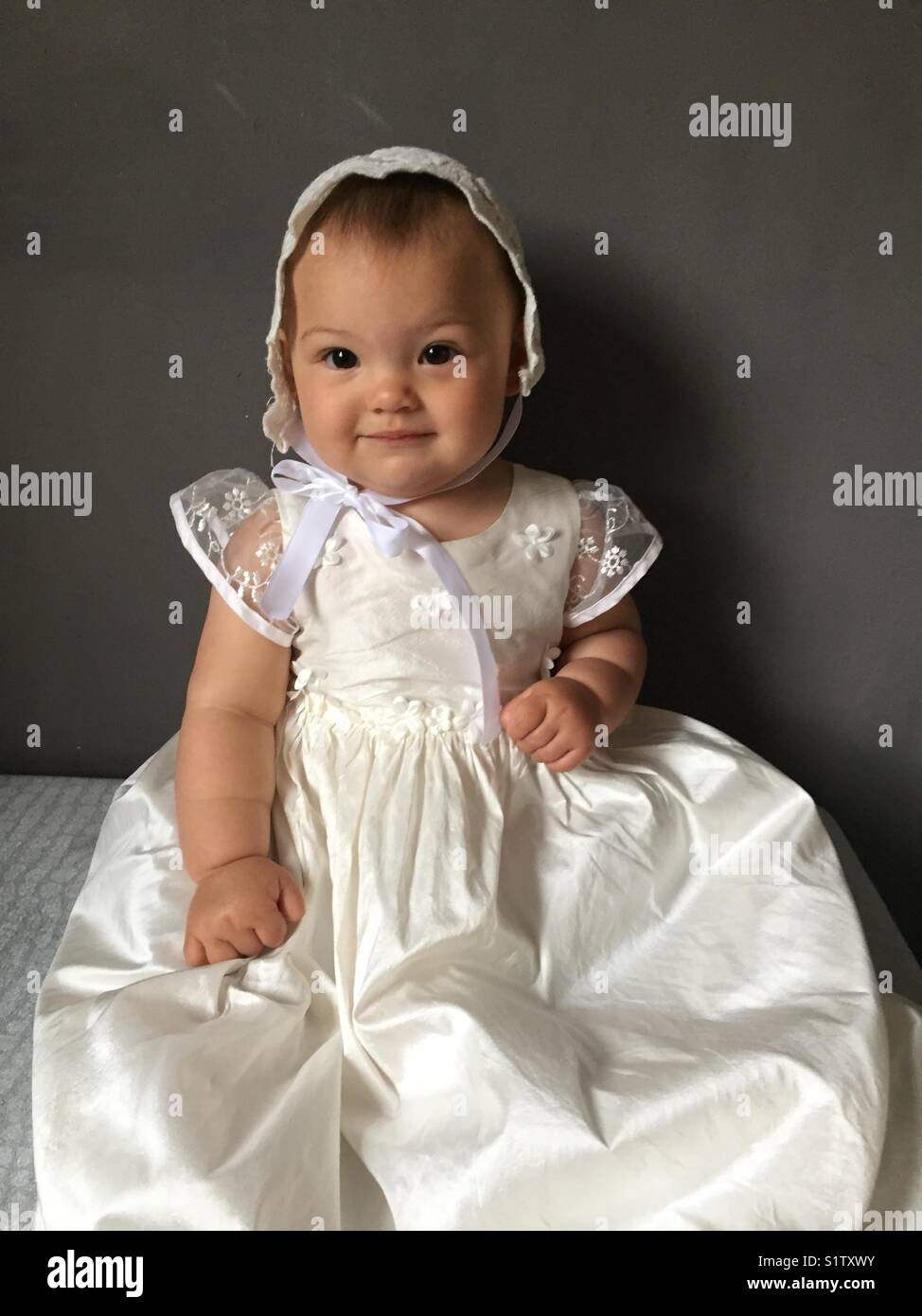 Christening gown - Stock Image